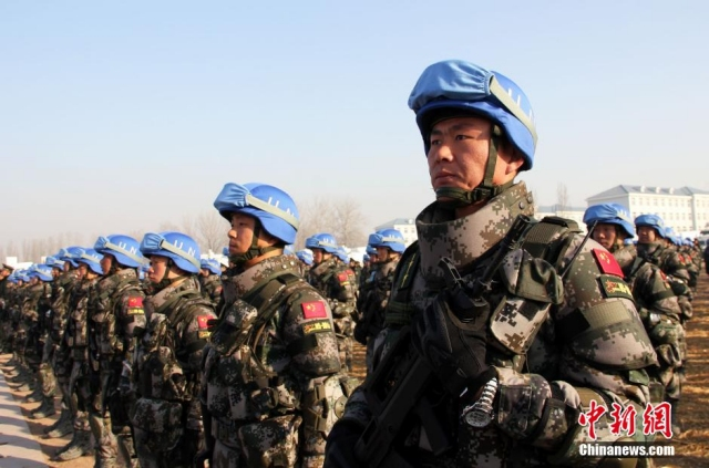 China has sent for the first time infantry troops for peacekeeping missions in South Sudan 640 001
