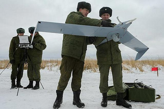 Russian Navodchik-2 UAVs flew 20000 km and 300 flight hours during winter training period 640 001