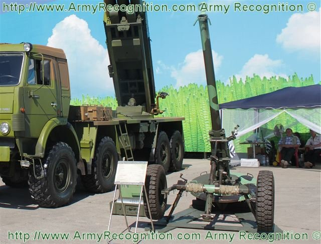 Russian towed mortar 2B23 Nona M1 received a new high explosive munition 640 001