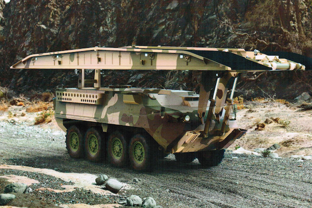 KMW rolls-out the Stryker Launched Assault Bridge