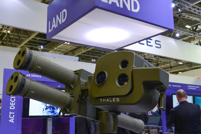 Thales introduced the LLM NG launcher at DSEI 2015