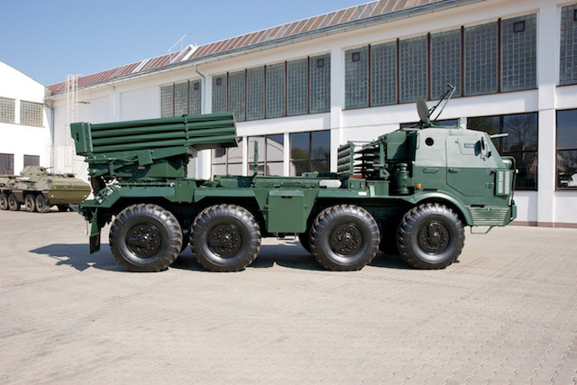 Excalibur Army offers a modern version of the RM 70 rocket artillery system
