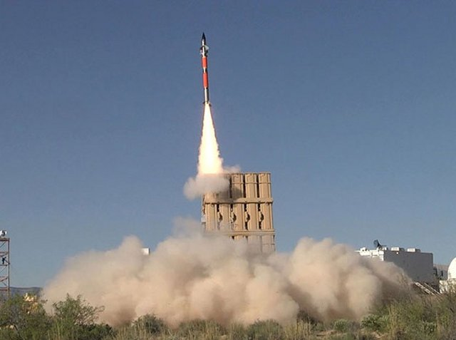 Israel Tamir air defense missile successfully test fired from a US Army Multi Mission Launche 640 001