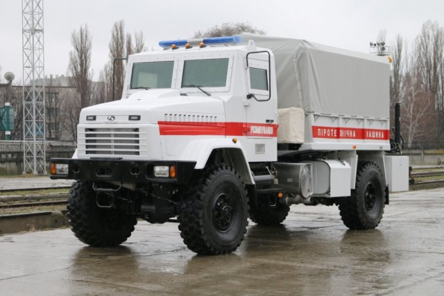 KrAz delivers new mine clearing vehicle to Ukraine s Emergency Situations Service 640 001