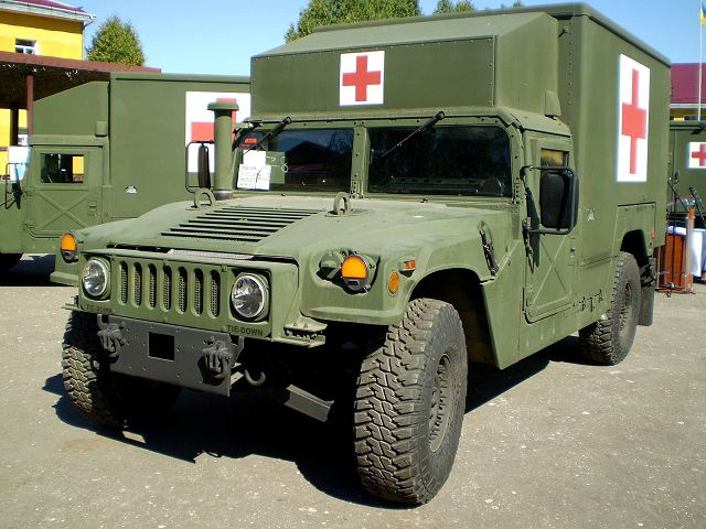 According a statement of the Ukrainain Ministry of Defense, from August 27, 2016, the International Center for Peacemaking and Safety in the Lviv region has take the delivery of five M1152 Humvee ambulance from United States.