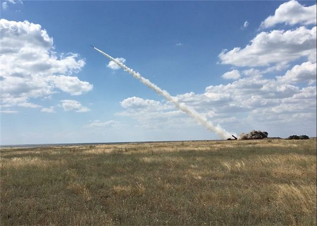 Ukrainian army has successfully test-fires new guided missile Vilha from BM-30 Smerch MLRS 640 001