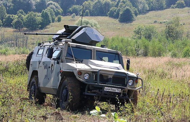 VPK from Russia has designed new 30mm remote-controlled weapon station for Tigr 4x4 armored 640 001