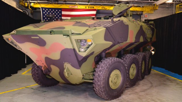BAE Systems rolls out first Amphibious Combat Vehicle 1 1 to US Marine Corps 640 001