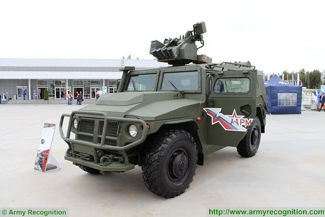 Russian armed forces received a batch of Tigr-M armoured with Arbalet-DM weapon station 640 001