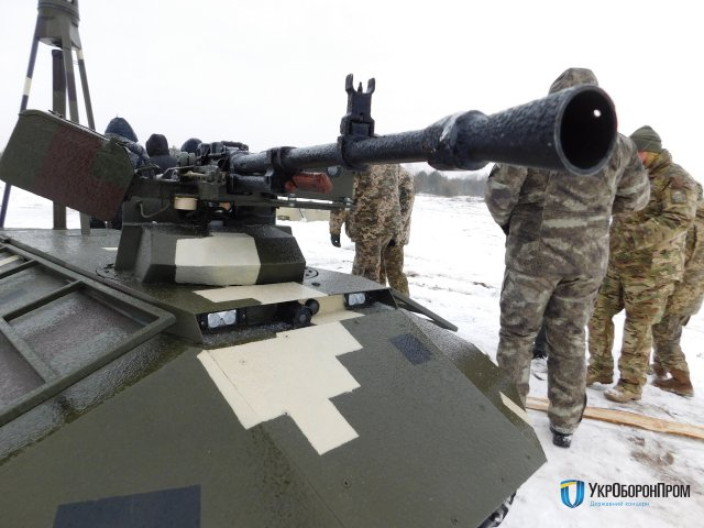 Ukrainian Tactical Unmanned Multipurpose Vehicle Phantom demonstrates its combat capabilities 640 001