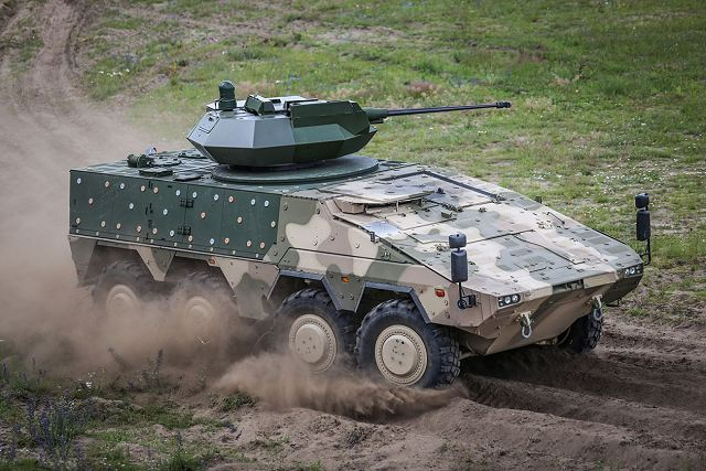 Lithuanian Armed Forces have tested Boxer 8x8 armoured fitted with Israeli Samson Mk2 turret 640 002
