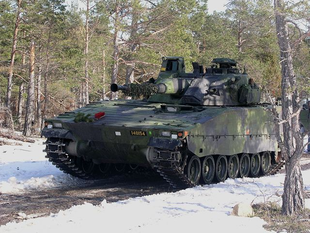 BAE Systems contract to refurbish 262 CV90 tracked combat vehicles for Swedish Army 640 001