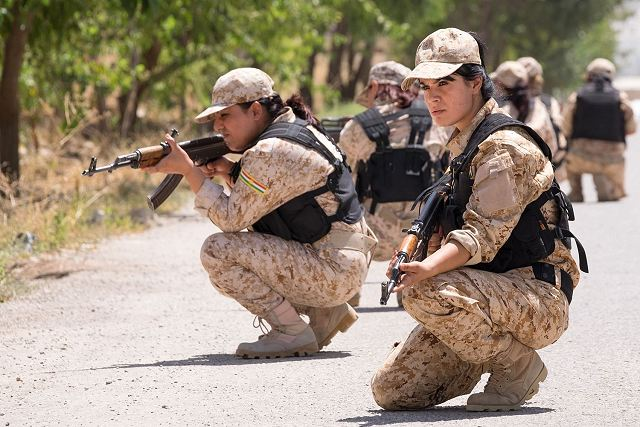 British soldiers have trained female Peshmerga fighters in northern Iraq 640 001