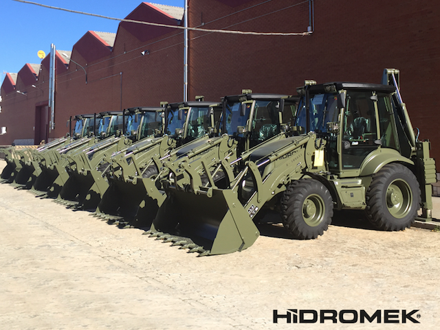 Spanish Army received new HMK 102B backhoe loaders
