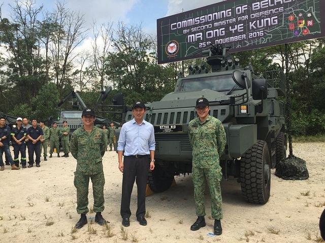 Local-made Belrex PCSV Protected Combat Support Vehicles enter in service with Singapore army 640 001