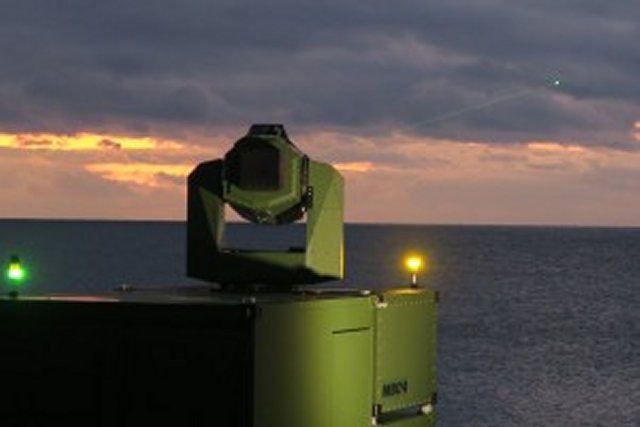 MBDA Deutschland successfully conducted tests of a new high-energy laser effector 001