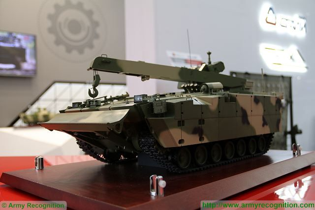 Russian army will take delivery of armoured recovery vehicle derived fom Kurganets platform 640 001