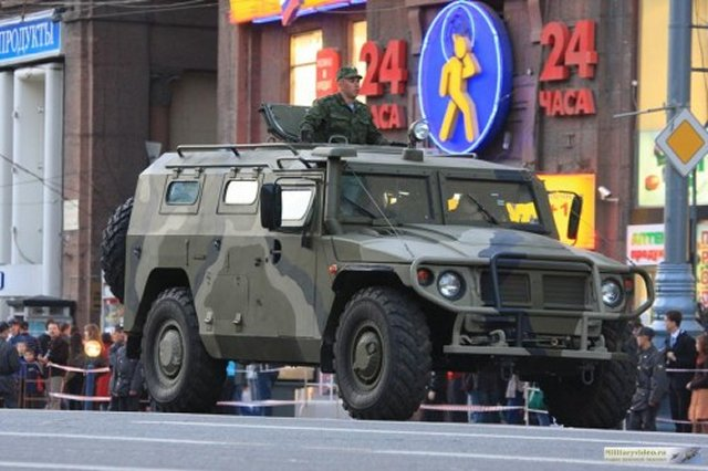 Tigr armored cars delivered to Russian Special Forces in Pskov-Western Military District