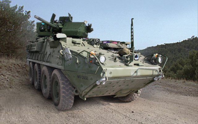 First Stryker vehicle prototype with 30mm cannon delivered to US Army 640 001