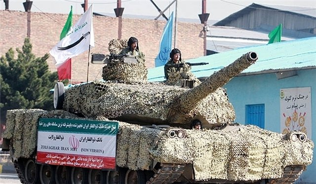 Iran tested its first home-made Active Protection System APS mounted on Zolfaqar tanks
