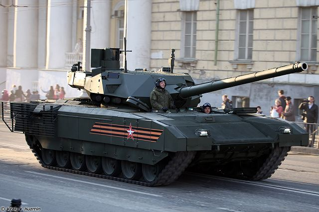 Russian-made T-14 Armata main battle tank fitted with new detection and acquisition system 640 001