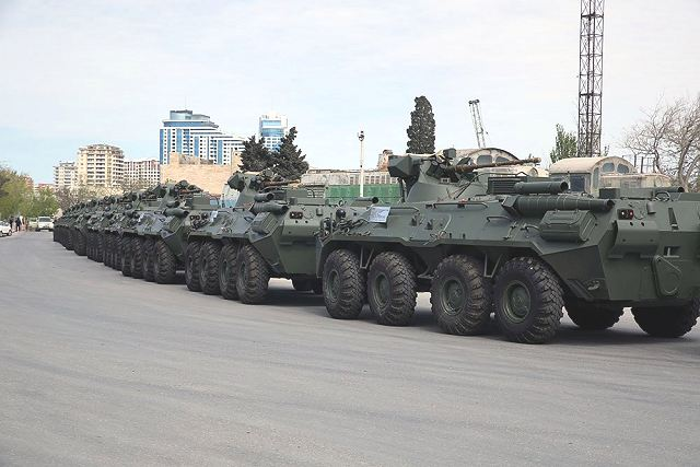 Russia has deliver a new batch of BTR-82A 8x8 armoured vehice personnel carrier to Azerbaijan. According pictures and video released on Internet by the newspaper website Azer Tag, showing BTR-82A armoured that are disembarked from a transport ship near the city of Baku.