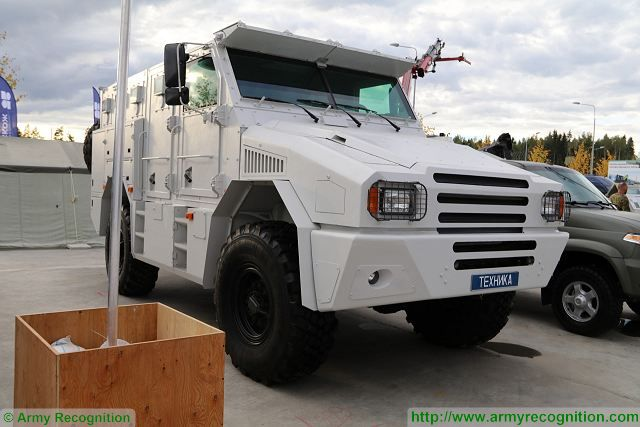 Russian State arms export Company Rosoboronexport to promote Gorets-M 4x4 armoured vehicle at the FAMEX 2017 international aerospace exhibition in Mexico that began on April 26, 2017. More than 9% of Russia's arms export falls on Latin American countries, the press office of Russia's arms exporter Rosoboronexport said.