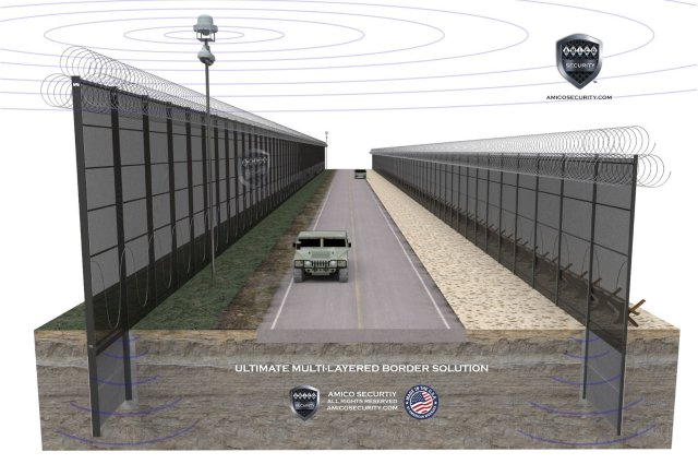 AMICO Security, the United States leading manufacturer of high-security perimeter systems, is introducing to the market the ultimate multi-layered border security solution. This solution combines the latest in radar surveillance technology with high security layered, double walled fencing and state of the art detection technology to create a comprehensive border solution.