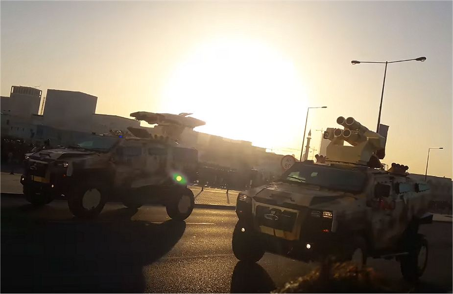 Qatar army unveils new 4x4 armoured vehicle NMS during rehearsal military parade national day 2017 001