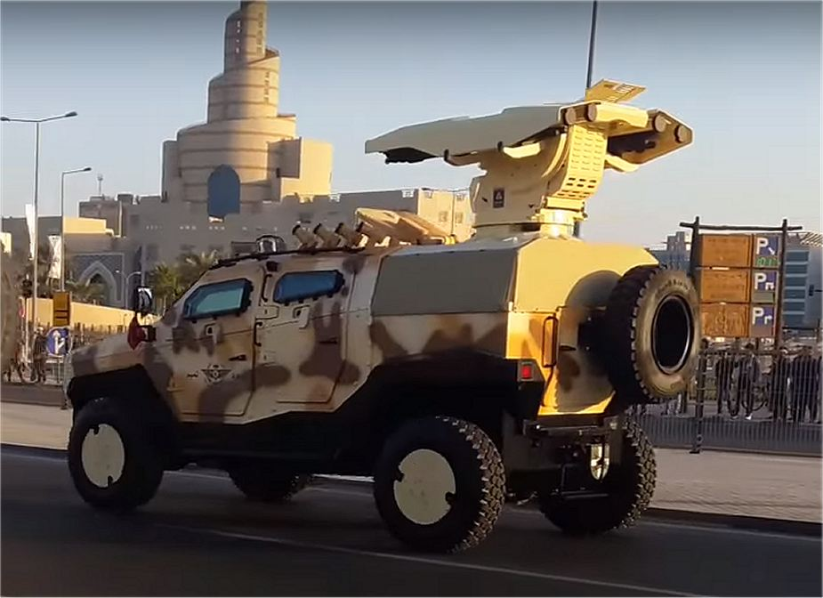 Qatar army unveils new 4x4 armoured vehicle NMS during rehearsal military parade national day 2017 002