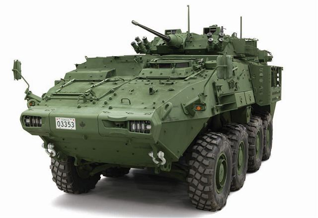 General Dynamics to upgrade LAV III 8x8 armored vehicles of Canadian army in LAV 6 standard 640 002