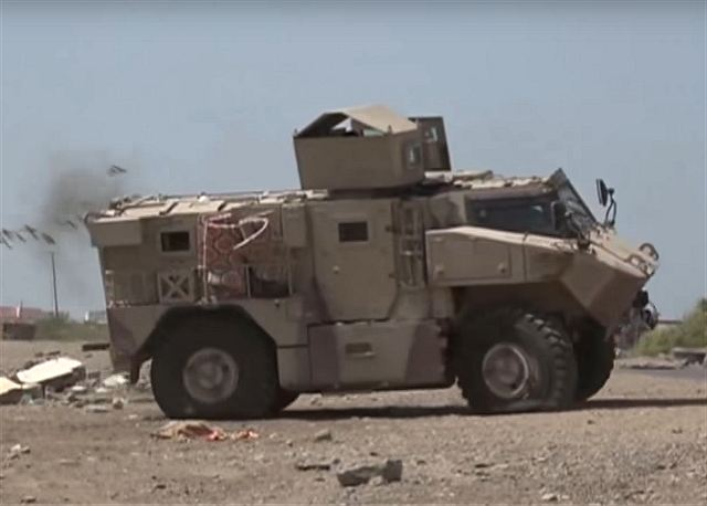 According a video report from Emirates News Agency published on Youtube, February 7, 2017, United Arab Emirates armed forces have deployed its new N35 4x4 armoured vehicle for military operations in Yemen. The N35 was filmed near the port city of Mokha on the Red Sea coast of Yemen.