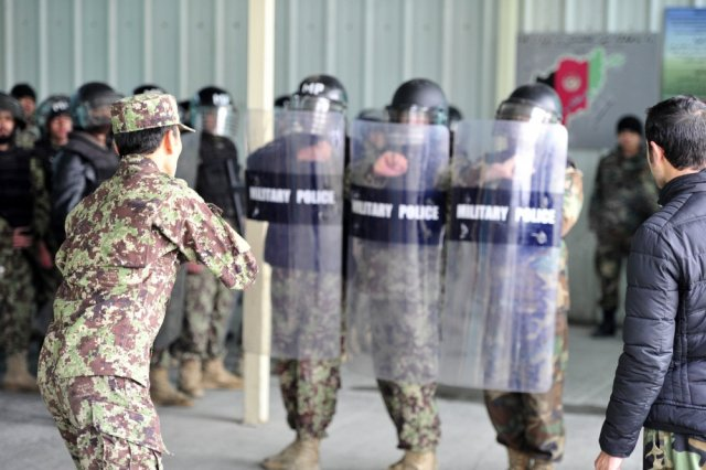 Afghan Military Police Guard Command Training Exercise 640 001