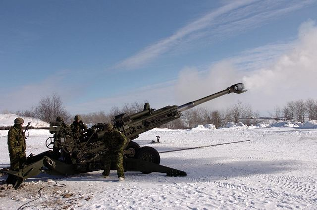 Canadian army performs live fire tests with M777 155mm howitzer fitted with Anti-Jam GPS 640 001
