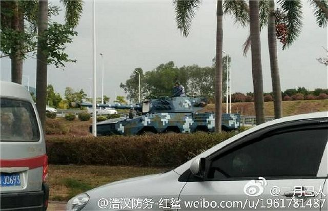 Chinese marine corps equipped with the ZTL-11 8x8 amphibious 105mm assault gun vehicle 640 001