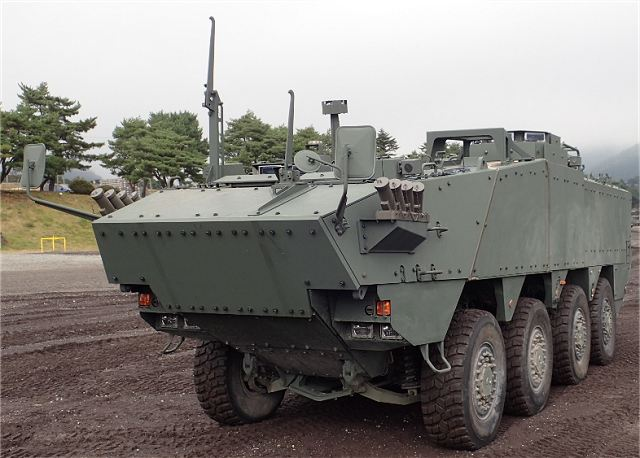 Japanese Ministry of Defense unveils new 8x8 APC armoured vehicle personnel carrier 640 001