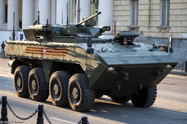 Russia s Bumerang armored personnel carrier to have wheeled IFVs  firepower 640 001