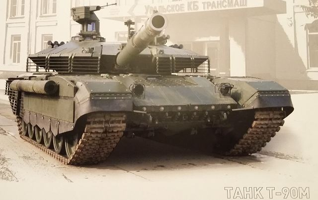 Russian defense industry unveils a new export version of T-90 main battle tank named Proryv-3 640 001