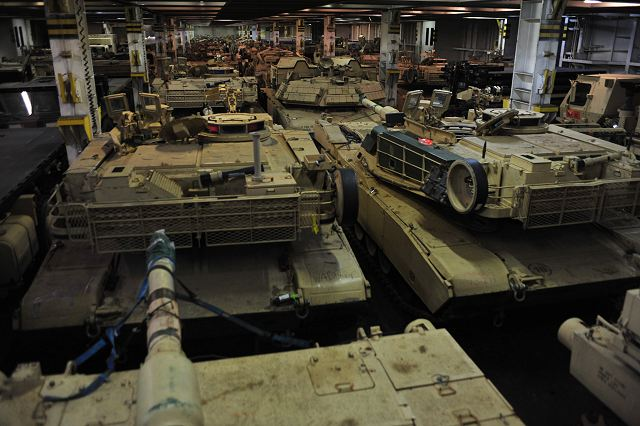 US M1A1 tanks and combat vehicles arrived in Germany to be deployed in East Europe 640 002