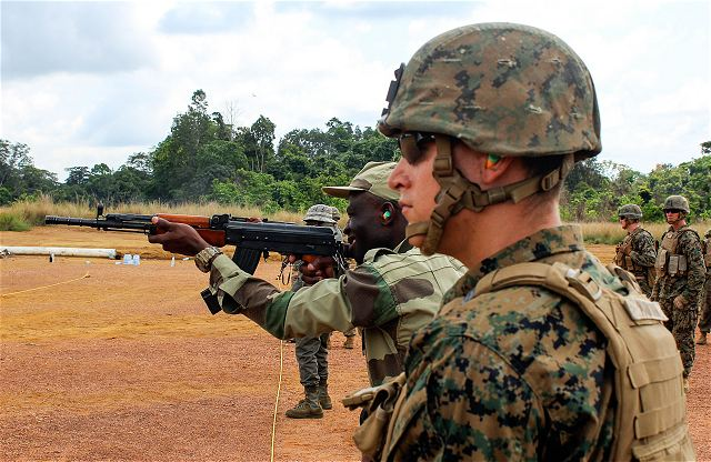 US Marines trained Gabonese army soldiers during military exercise in Gabon 640 001