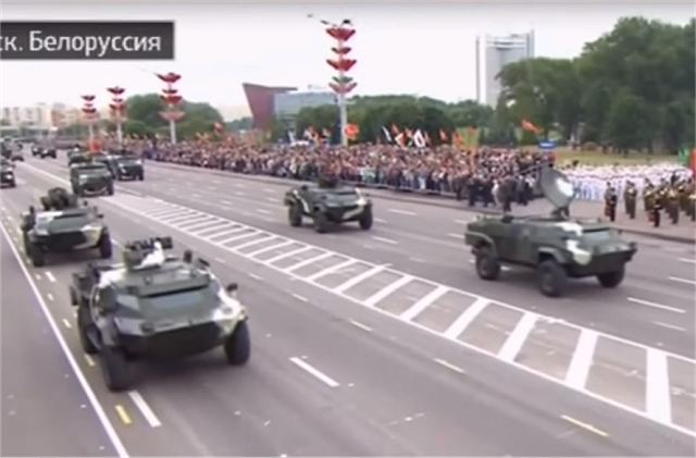 During the military parade in Belarus, new armoured vehicles and military equipment that had recently entered service in the armed forces with the Belarus armed forces including the Caiman 4x4 armoured vehicle in different configurations, the CS/VN3 a Chinese-made 4x4 APC (Armoured Personnel Carrier), the Volat (Minsk Wheel Tractor Plant Open Joint Stock Company) MZKT-490100 and the Polonez a new local-made 300mm MLRS (Multiple Launch Rocket System).
