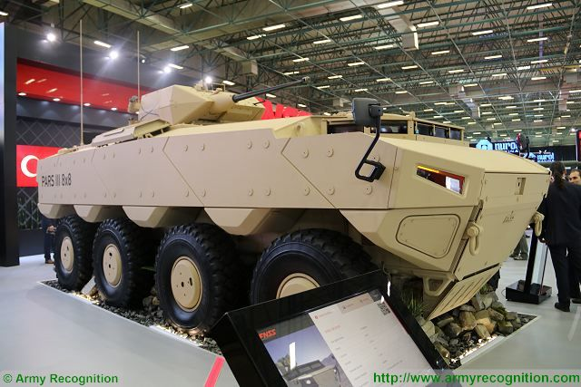 During an official ceremony, July 12, 2017, the Turkish Company FNSS has officialy unveiled the first PARS 3 8x8 armoured vehicle that will be delivered to the armed forces of Oman. FNSS has announced the delivery of 172 pars armoured vehicles in 6x6 and 8x8 configurations.