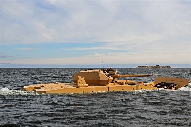 The Finnish Defense Company Patria has successfully completed swimming tests with its latest genration of 8x8 armoured vehicle, the AMV28A in the end of May in Finland.