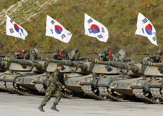 South Korea's defense ministry said Thursday it has requested a record budget of 43.7 trillion won ($38.7 billion) for next year, citing growing threats from North Korea and the need for reforming the South's military under President Moon Jae-in's campaign pledge.