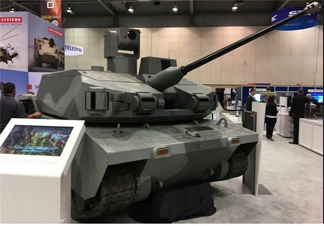 At AUSA (Association of the US Army) Global Forces Symposium and Exposition which takes place in Huntsvile from 13 to 15 March 2017, BAE Systems come back with its project of unmmaned combat vehicle under the project name of ARCV (Armed Robotic Combat Vehicle) called Black Knight in the past.