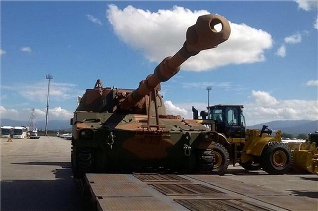 Brazil has taken delivery of first upgraded M109A5 BR 155mm self propelled howitzers 640 001