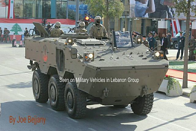 According pictures released on the Facebook account of the Military Vehicles in Lebanon, the Guarani 6x6 armoured vehicle personnel carrier is now in service with the Lebanese armed forces. In July 2015, it was announced that the Iveco plant in Sete Lagoas (Brazil) will produce 10 Guarani armoured vehicles which will be delivered directly to Lebanon without armament.
