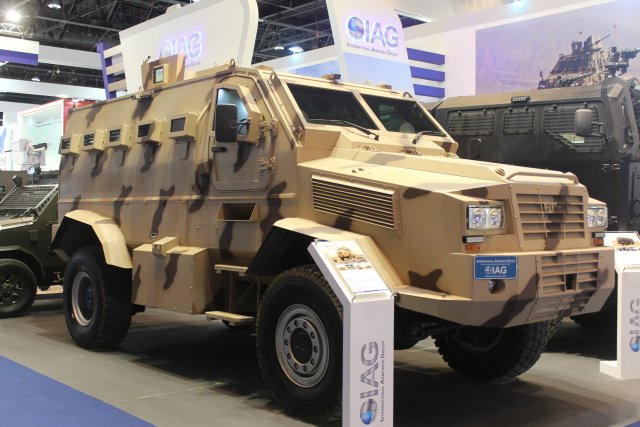 The newest and largest addition to the IAG family of military tactical vehicles is the Tracker Armored Personnel Carrier. This is the biggest APC that IAG offers with the highest level of protection.