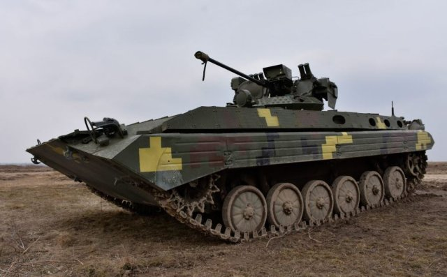 Ukraine tests Shkval and Stilet combat modules to modernize its IFV 640 001