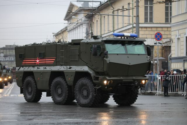 """The Eastern Military District has held the first tactical-special exercise involving Taifun armored vehicles at a training range in the Khabarovsk Territory. An Eastern Military District special unit used advanced Taifun vehicles to reconnoitre the assigned area and detect and destroy ambushes set by a simulated enemy's commandos,"" the press office said."